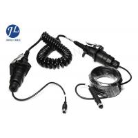 China Waterproof Curly Spiral Power Cord 7 Pole For Video Audio Power Signal Transmission wholesale