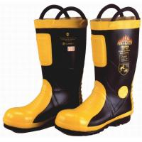 China Marine SOLAS / MED CE Cerificate Rubber Fireman Boots Harvik 9687L wholesale