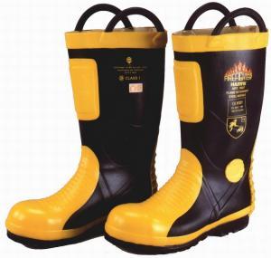 China Marine SOLAS / MED CE Cerificate Rubber Fireman Boots Harvik 9687L wholesale