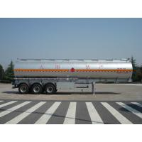 China 46000 Liters Aluminum Fuel Oil Tank Trailer With 12T BPW 3 axles Petroleum Tanker Trailers wholesale