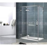China Economic 8MM Single Door Shower Enclosure With Stainless Steel Support Bar and Accessories wholesale