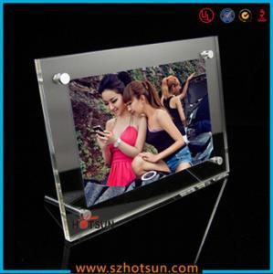 China acrylic photo strip frames/ acrylic photo frames 4x6 wholesale