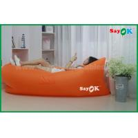 Nylon Cloth Portable Inflatable Air Sleeping Bags Couch