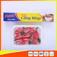 China Fresh Keeping Food Grade Cling Film , Stretch Wrapping Plastic Roll wholesale