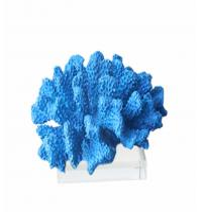 China Blue Faux Sea Decorative Resin Coral Ocean Theme Aquarium Tropical Decor on sale