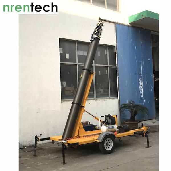 trailer mounted pneumatic mast