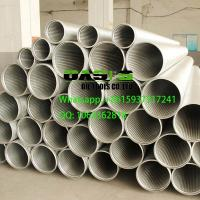 China stainless steel continuous slot wire wrapped Johnson screens for well drilling wholesale