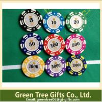 China Special Design different Colors 13.5g clay cosmetics Casino poker chip wholesale