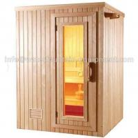 China 4 People Dry Steam Room Equipment Durable White Pine Wood With Sauna Accessories wholesale
