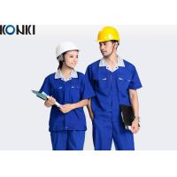 China Blue Wear Work Trousers Custom Comfortable Work Uniform For Electrician / Worker wholesale