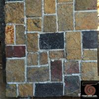 China Flat Style Random Stacked Stone For Landscape / Garden Wall Weathering Resistance on sale