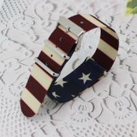 China 16mm Nylon Watch Band Fashion Hardware Watch Strap Solid Various Color on sale