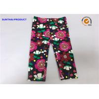 China Eco Friendly Kids Printed Leggings , No Side Seam Warm Leggings For Baby Girl wholesale