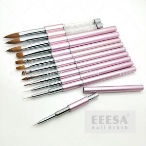 China One Stroke French Zhostovo Aquarelle Liner Detailer Gel Acrylic 2020 Hot Baby Pink Nail Brush Set wholesale