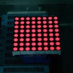 China 5.0mm 8 x 8 Dot-matrix LED Display, 2.3 Inches, Used for Digital Display Screens wholesale