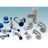 China AISI 304 Stainless Steel Sanitary Fittings Long 45 Degree Elbow For Beverage wholesale