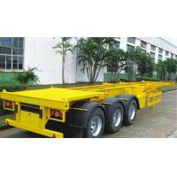 China 40 Tons Skeleton Semi Trailer  With 12 Twist Container Locks 20ft and 40ft 3 Axle wholesale
