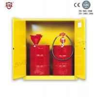China Steel Hazardous Chemical Drum Corrosive Storage Cabinet 3-point self-latching For Flammable Liquids wholesale