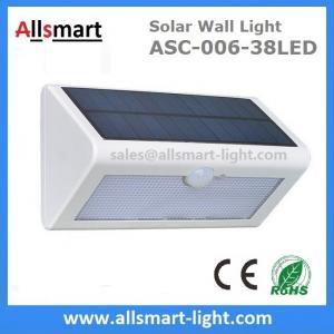 China 38LED 550 Lumens 7W Motion Sensor Solar Wall Light PIR Sensor Light Triangle Solar Lights Chinese Manufaturer Supplier wholesale