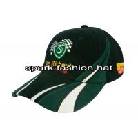 China 100% heavy weight cotton patchwork racing cap with high quality embroidery logo wholesale