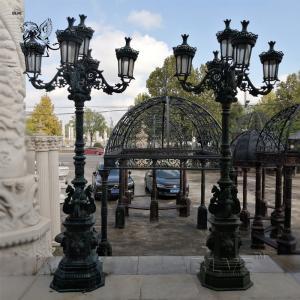 China Garden Lamp Cast Iron Light Poles Antique Outdoor/Indoor Street Decorative wholesale