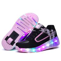 China Multicolors Flashing Led Light up Roller Sneakers Unisex for Kinds wholesale