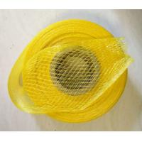 China Yellow Knitted Tubular Mesh Vegetable Storage Bags Environment Friendly Finish on sale