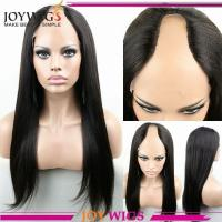 China Hot selling 100virgin brazilian hair italian yaki human hair u part lace wigs on sale