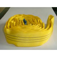 Quality 3T High Tenacity Polyester Yellow Soft Round Sling , Cargo Lifting Slings for sale