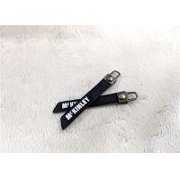 China Nickel - Free Bag Accessory Rubber Zipper Puller Embossed Silicone Logo wholesale