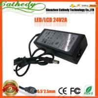 China 24v 2a Lcd Monitor Printer New Ac Dc Adapter Power Supply Cord Charger wholesale