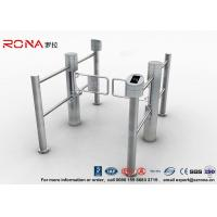 China High Speed Swing Barrier Gate Double Core Biometric Stainless Steel for Fitness Center wholesale