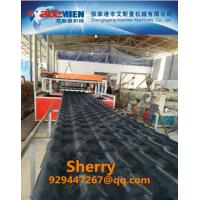 China PVC ASA roofing tile extrusion machine making line plastic roof tile machine extruder line plastic recycling machine wholesale