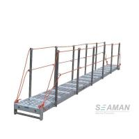 China CCS Aluminium Wharf Ladder With Hand Rails & Socket For Dock , Port wholesale