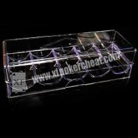 China 8 - 40cm Distance Poker Scanner Plastic Chip Box / Poker Chip Tray wholesale
