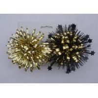 China Gold yellow 4Inch PET Firework fancy bows for wrapping paper , gift bags and tissue wholesale