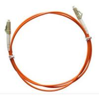 China Multimode LC to LC Simplex Fiber Optic Patch Cord with 3.0mm Orange PVC Jacket wholesale