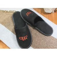 China Polyester Velour Hotel Disposable Slippers For Guests , Cut Velvet Luxury wholesale