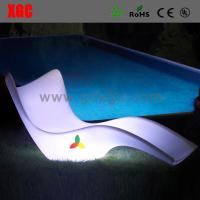 China LUMINOUS Led Color Changing Sun Bed PE PE Outdoor Lounger chair wholesale