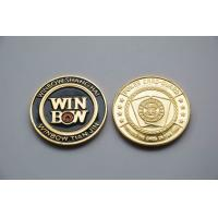 China Round custom design metal poker chips 24k gold Commemorative Coins thickness 3mm wholesale