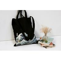 Buy cheap 100% Canvas Reusable Black Tote Bags - 12oz. Thick Material Canvas Shopping Bags from wholesalers