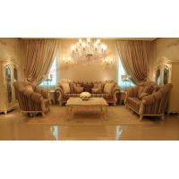 China High End Romantic Sofa set made by Solid Wooden Frame with Leather and Fabric Cushion wholesale