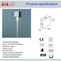 Quality Steel indoor 1x1W IP20 modern LED wall light /LED decoration light for bars decoration for sale