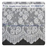 China Chantilly Lace Fabric Eyelash Lace Trim For Womens Dress , White And Gray wholesale