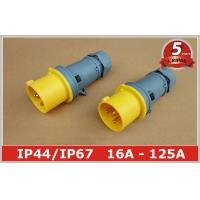 China Weatherproof 110v 4h Industrial Plugs Male Socket 2P+E , Heavy Duty wholesale