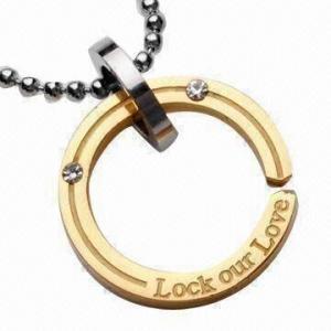 China Pendant Necklaces, Stainless Steel Pendant, Titanium Pendant, Plating Gold Jewelry wholesale