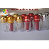 China Blue/Gold/Red/Silver Capsule Pills Shape Bottle With Metal Capsex pill bottle container plastic pill bottles for sale wholesale