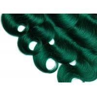 Quality 1B / Green Color Brazillian 100% Natural Human Hair Bundles With Closure for sale