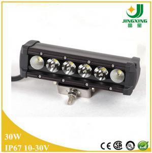 China 30W auto led light bar single row 4x4 atv led off road light bar on sale