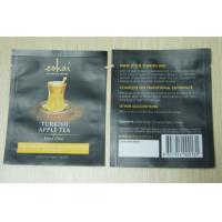 China 10g Small Packaging Tea Bags / Instant Matt Finish Tea Pouch In Black wholesale